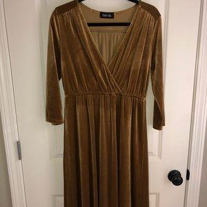 Fabrik Velvet midi dress